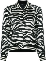 R 13 zebra print bomber jacket - women - Silk/Viscose - S