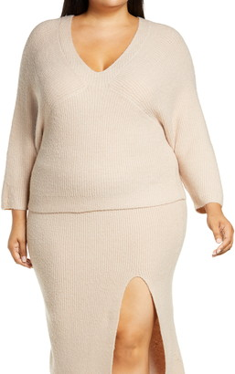 Leith Ribbed V-Neck Sweater