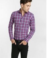 Express modern fit small check dress shirt