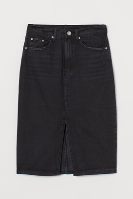 H&M Denim Skirt - Black