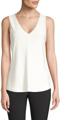 Donna Karan Icons Sleeveless V-Neck Top