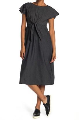 Max Studio Tie Waist Knit Midi Dress
