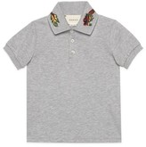 Gucci Boy's Embroidered Collar Polo