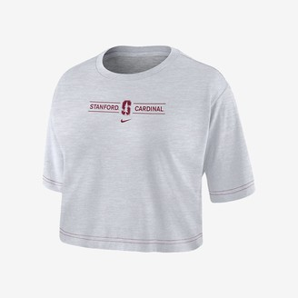 Nike Women's Cropped T-Shirt College Dri-FIT (Stanford)