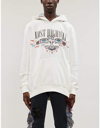 Alchemist Lost Highway embroidered-patterncotton-jersey hoody