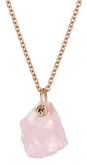Monica Vinader Women's 18K Rose Gold Vermeil & Rose Quartz Pendant Necklace