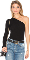 Autumn Cashmere One Shoulder Top in Black
