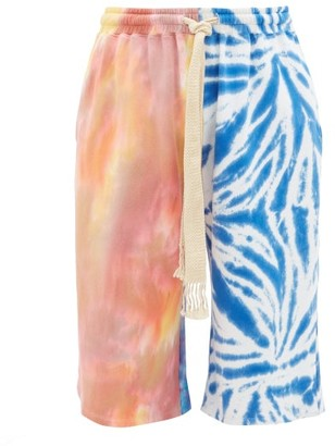 Loewe Paula's Ibiza - Tie-dye Jersey Track Shorts - Mens - Multi