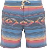 Faherty Geometric striped-print shorts