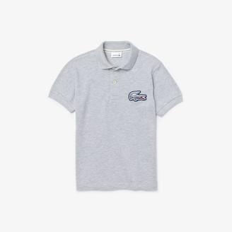 Lacoste Boys' Regular fit Crocodile Flecked Cotton Pique Polo Shirt