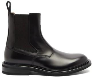 Bottega Veneta Panelled Leather Chelsea Boots - Mens - Black