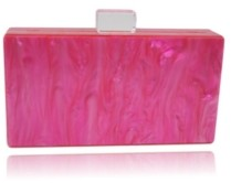 Mother of Pearl Milanblocks Box Clutch