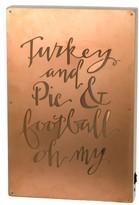 Primitives By Kathy Turkey & Pie & Football Led Box Sign
