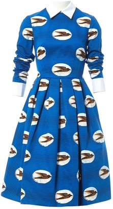 Stella Jean Blue Cotton Dress for Women