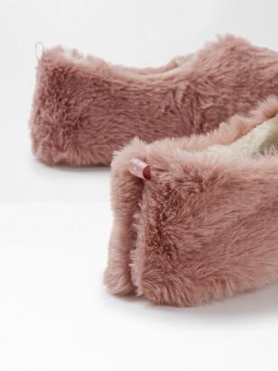White Stuff Faux Fur Slipper
