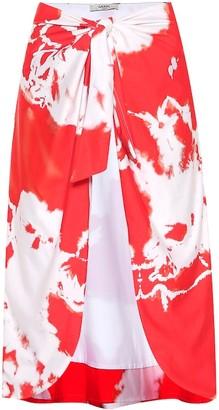 Ganni Exclusive to mytheresa.com Tie-dye beach skirt
