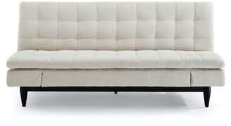 "Sealy Montreal 79.9"" Armless Sleeper Sofa Convertibles Fabric: Sydney Tan 100% Polyester"