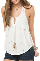 O'Neill 'Gabbi' Beaded & Smocked Tank