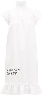 Batsheva Victorian Secret Cotton-poplin Midi Dress - Womens - White