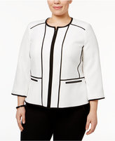 Kasper Plus Size Piped Blazer