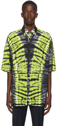 Valentino Black and Green Pop Skin Printed Shirt