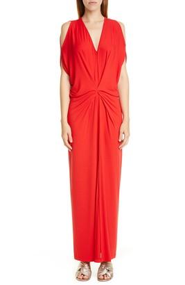 Zero Maria Cornejo Miu Cold Shoulder Sim Jersey Maxi Dress