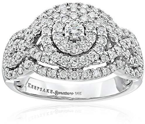 Signature 14k Gold Diamond Statement Engagement Ring (1cttw
