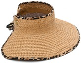 Vince Camuto Straw Roll Up Visor