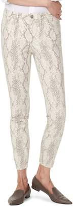 NYDJ Ami Snakeskin-Print Skinny Jeans