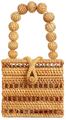 Cult Gaia Eos Beaded Top Handle Box Bag