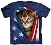 The Mountain Blue Patriotic Kitten Crewneck Tee - Boys
