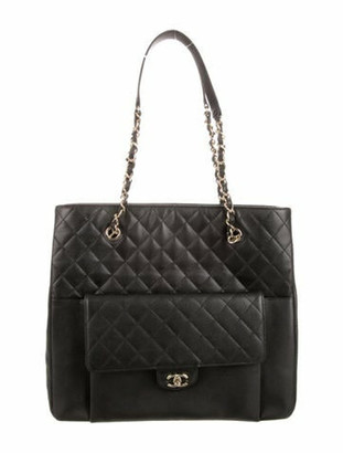 Chanel 2019 Large Shopping Tote Black