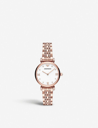 Emporio Armani AR11267 Gianni rose gold-plated stainless steel watch