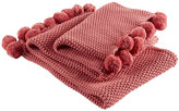 Christy Knitted Throw 1 - Coral
