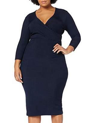 LOST INK PLUS Women's Wrap Dress in Slinky26 (Size:)