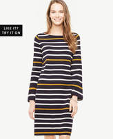 Ann Taylor Striped Knit Shift Dress