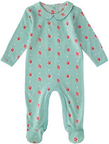 Cath Kidston Sprig Spot Baby Sleepsuit With Peter Pan Collar
