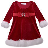 Iris & Ivy Baby Girls Faux-Fur Trimmed Santa Dress