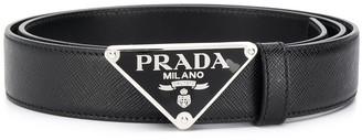 Prada Triangle Logo Belt
