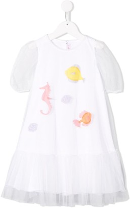 Il Gufo Sea Life Printed Dress
