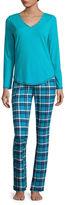 SLEEP CHIC Sleep Chic 2-pc. Plaid Pant Pajama Set