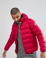 North Sails Hooded Down Puffer Jacket in Red