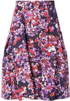Carolina Herrera floral pleated skirt