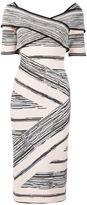 Christian Siriano crisscross strap dress - women - Polyester/Viscose - 2