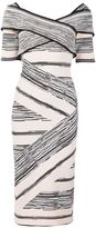 Christian Siriano crisscross strap dress