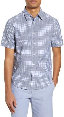 Club Monaco Short Sleeve Button-Up Shirt