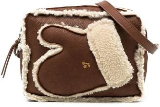 Bonpoint Glove Detail Shearling Shoulder Bag