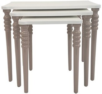 Canora Grey Oubre Lightweight Stackable Rectangular 3 Piece Nesting Tables