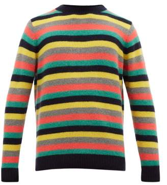 The Elder Statesman Striped Cashmere Sweater - Mens - Navy Multi