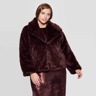 A New Day Women's Plus Size Long Sleeve Faux Fur Jacket